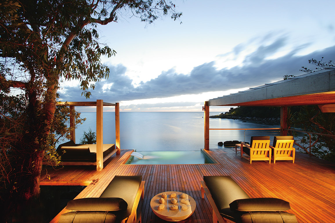 Bedarra Island Luxury resort and spa on Great Barrier Reef, Queensland, Australia
