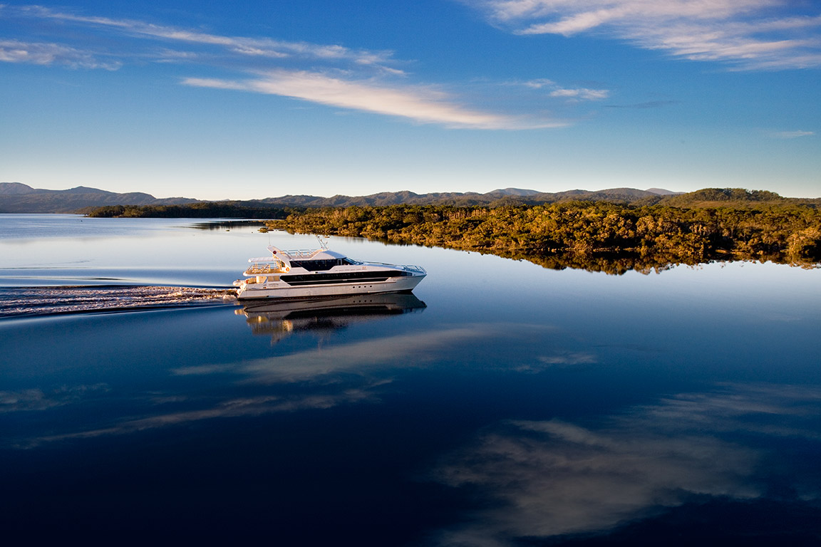 Gordon River cruising - touring Tasmania's wilderness areas Australia