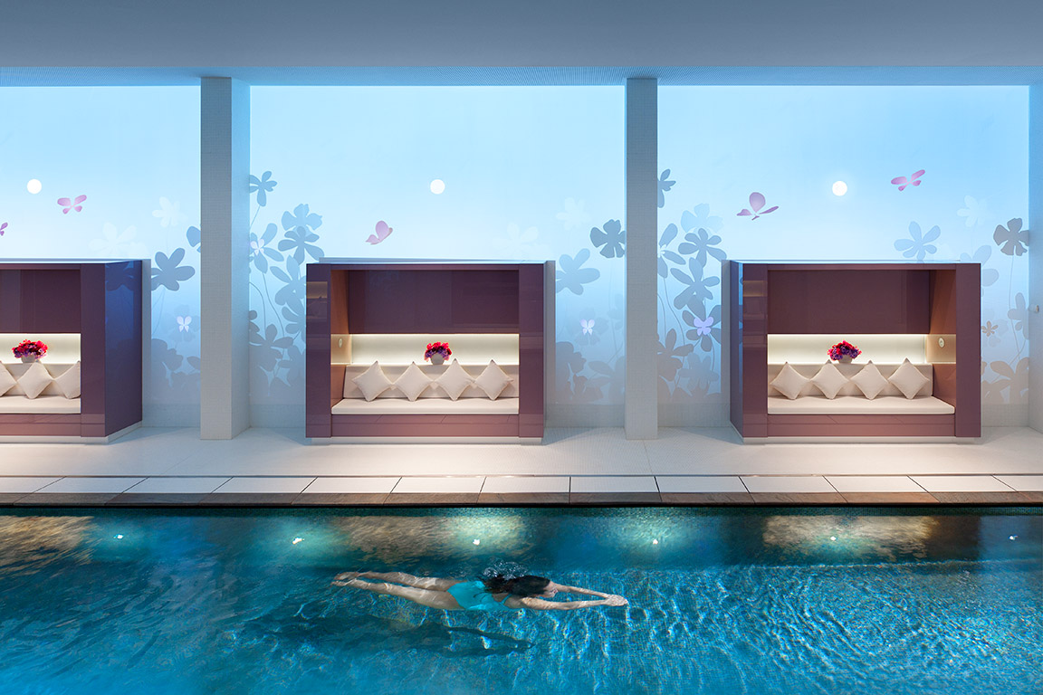"""Spectacular Indoor Pool"",  Luxury Spa Series, Mandarin Oriental Paris"