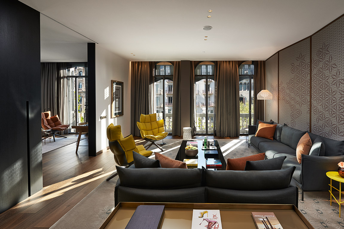 Premier Suite Living Room at the Mandarin Oriental Barcelona