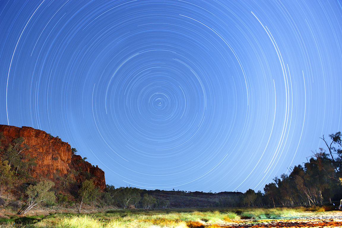 Central Australia's night sky over the campfire