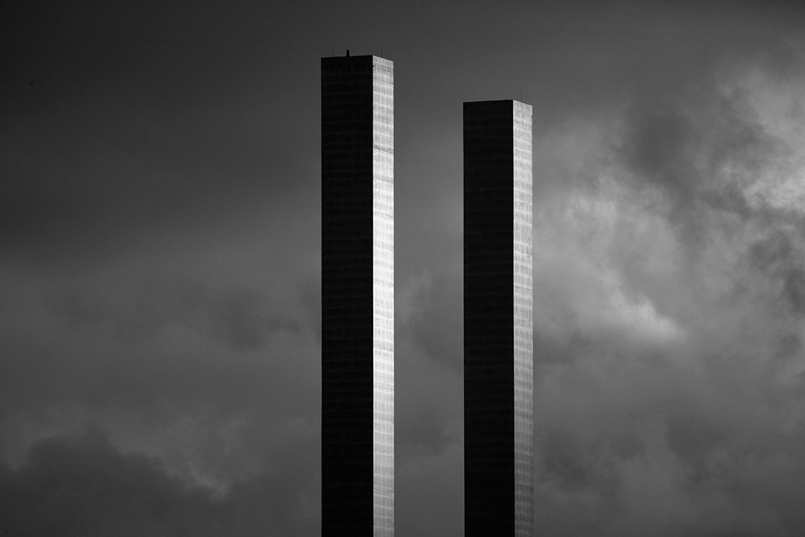 The towers of the Bolte Bridge in Melbourne Australia