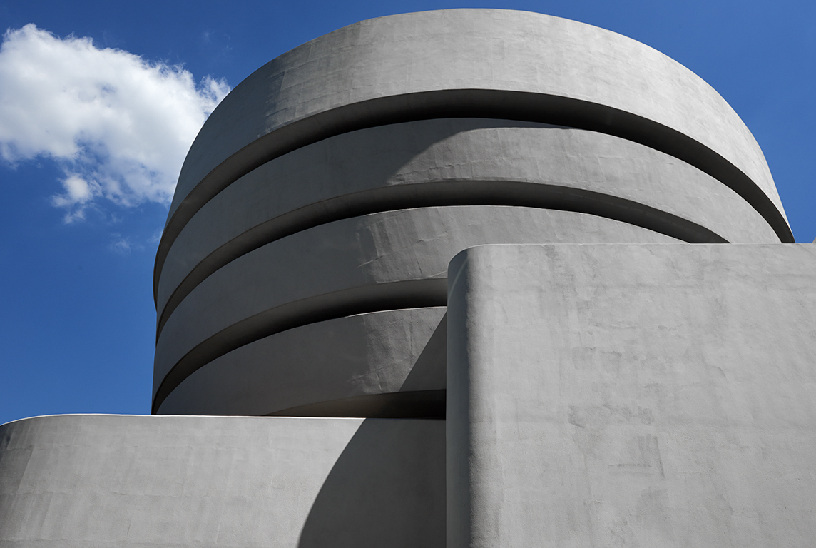 The Frank Lloyd Wright-designed Guggenheim Museum in New York City