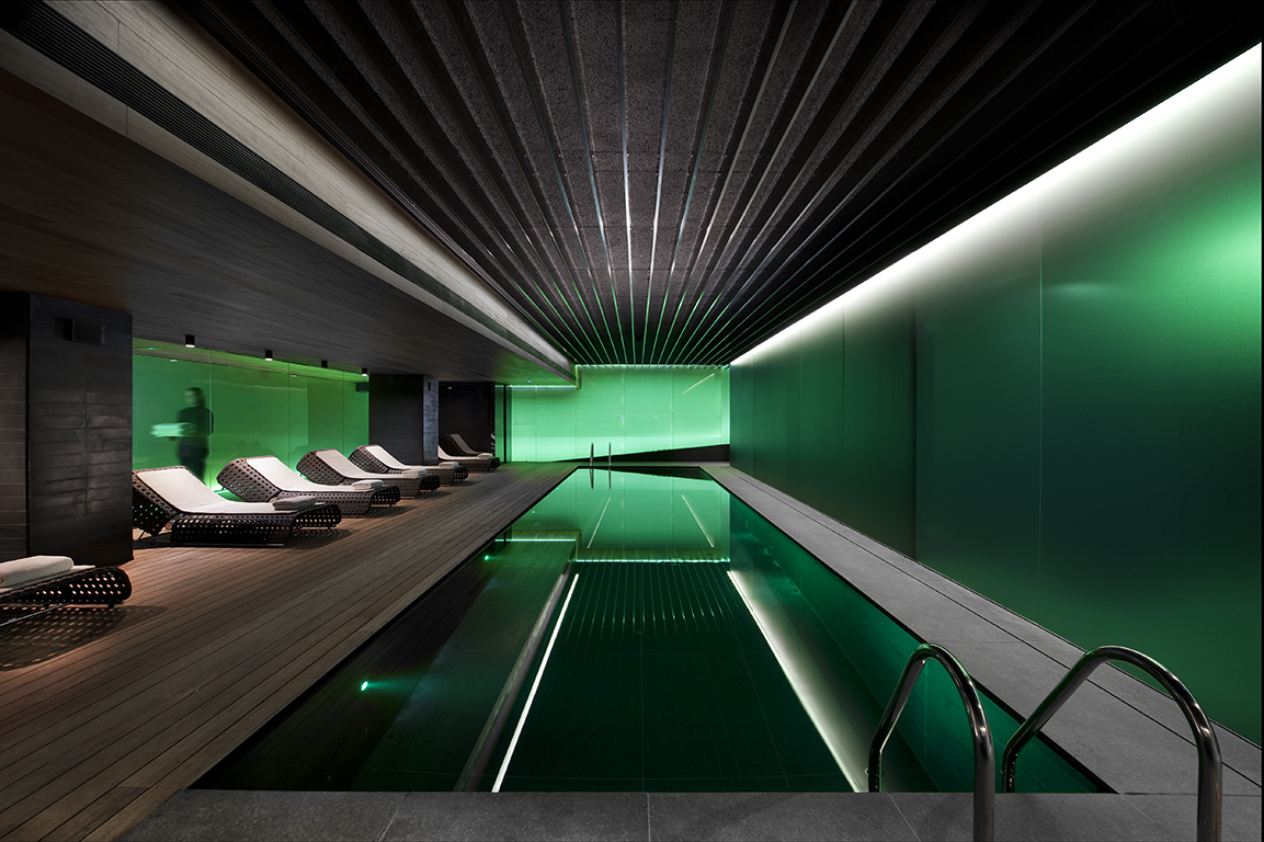 Lap Pool at the Fitness and Wellness Spa in the Mandarin Oriental Hotel Barcelona