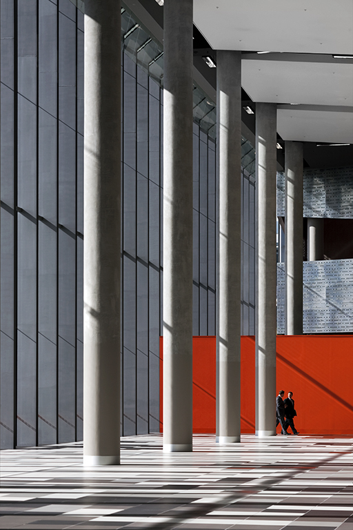 Detail of the interior of the foyer of the Melbourne Exhibition and Convention Centre