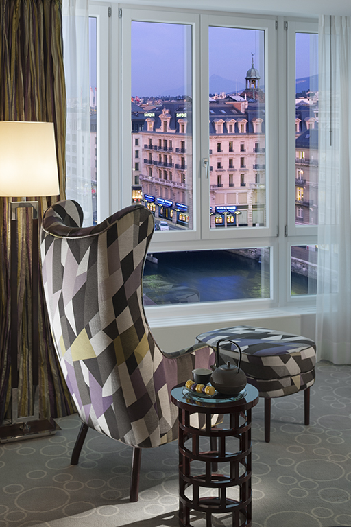 Room with a view at Mandarin Oriental Geneva