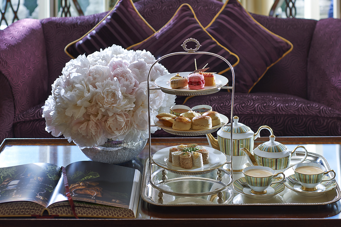 High Tea room service, Mandarin Oriental Hyde Park London