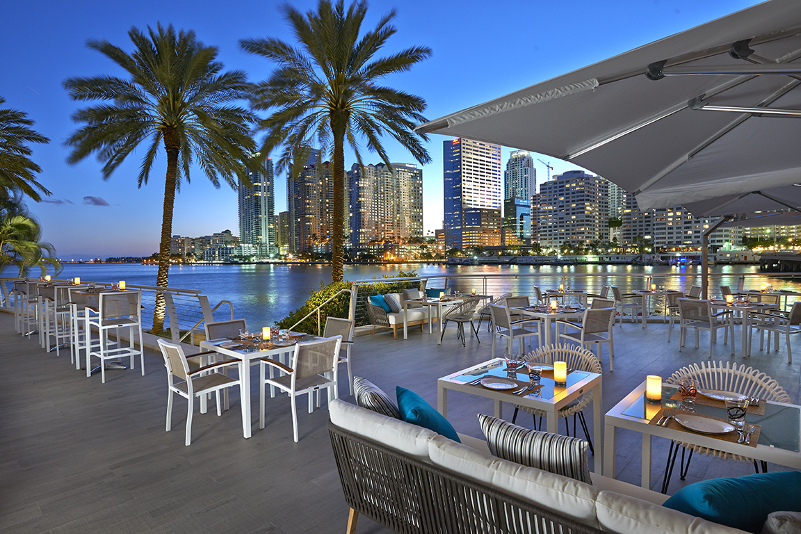 Terrace Dining at Mandarin Oriental Miami