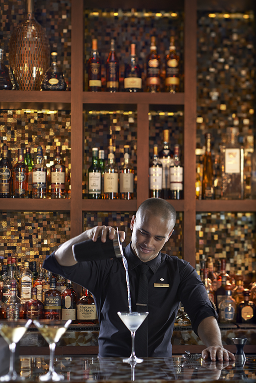 Making cocktails at Mandarin Oriental Miami