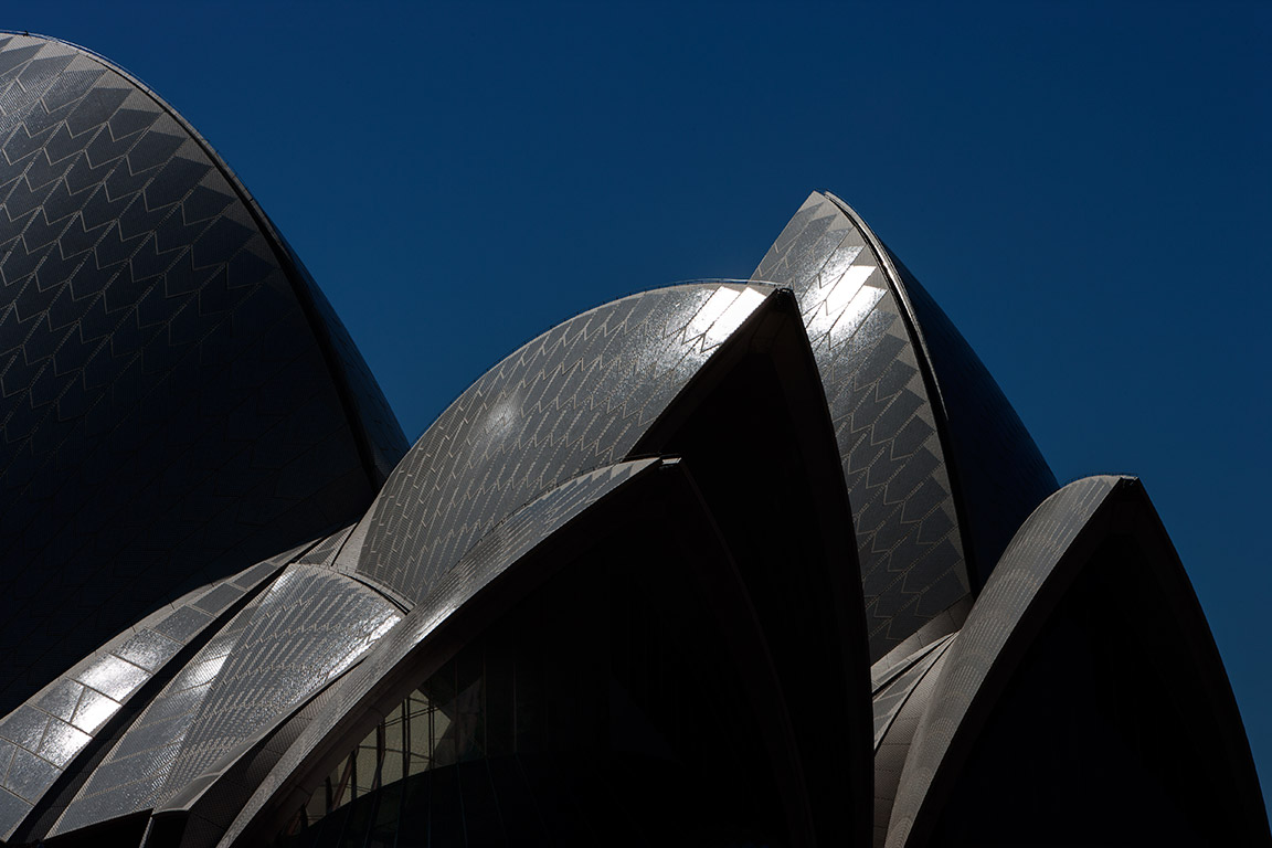 Detail of the Opera House Sydney Australia