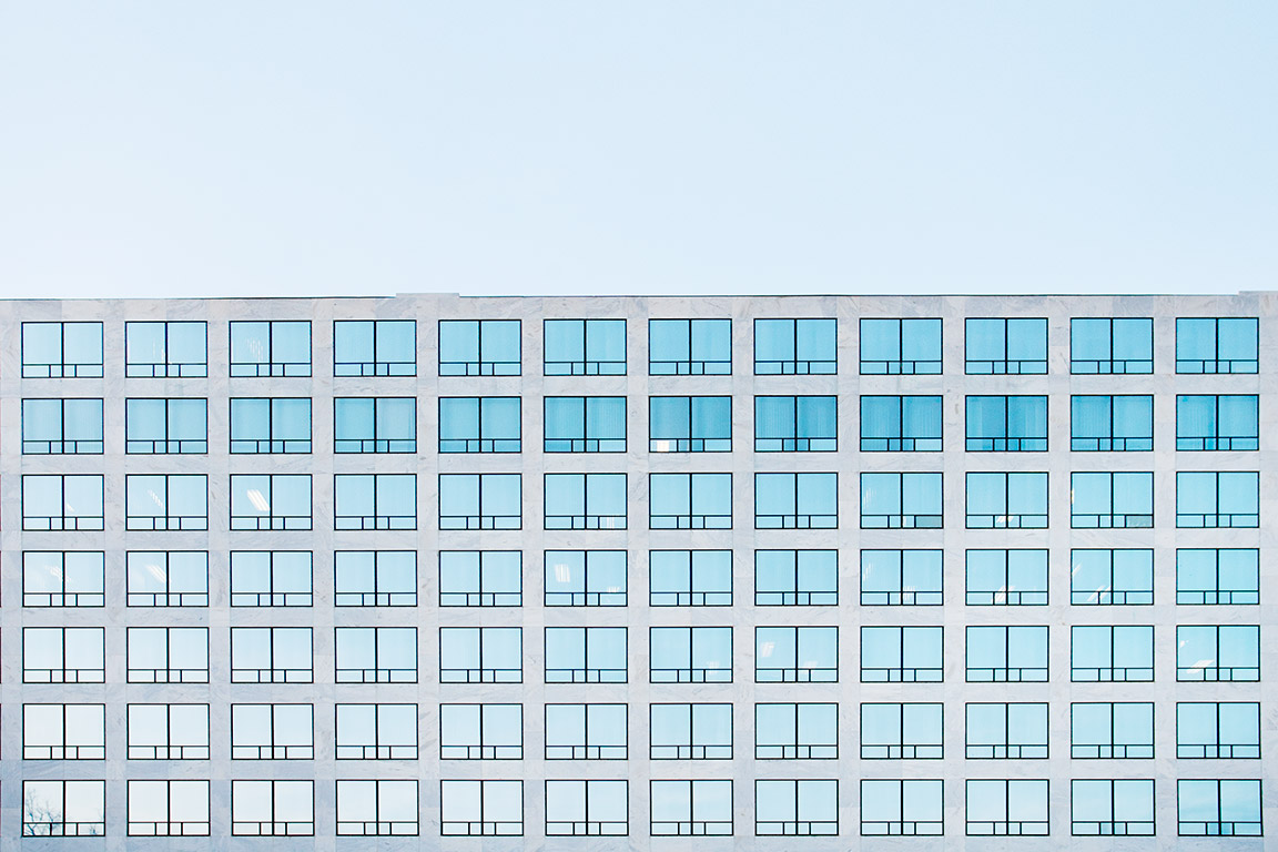 Detail of the Federal Aviation Administration office building in Washington DC USA