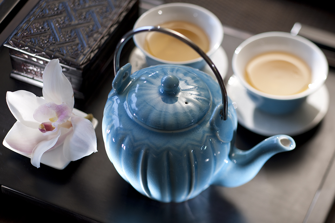 Welcome tea at the Wellness Spa at the mandarin Oriental Hotel Jakarta, Indonesia