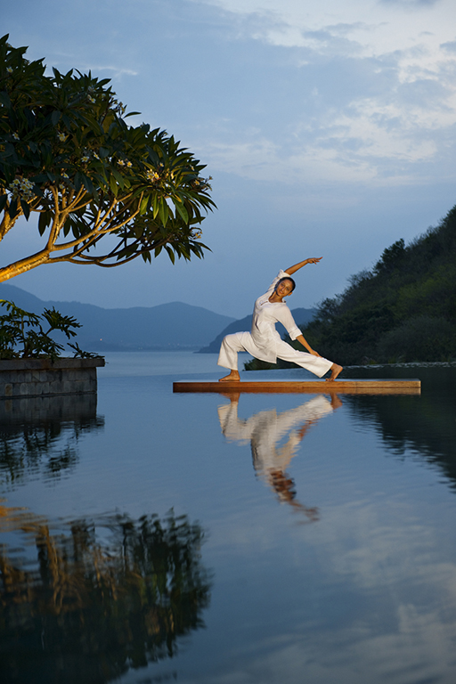 Yoga Master at the Spa at Mandarin Oriental Sanya, Hainan Island, China
