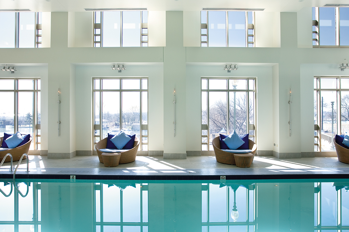 Indoor pool at the Fitness and Wellness Centre, Mandarin Oriental Washington, USA