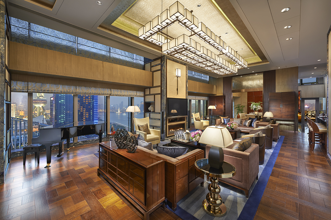 Presidential Living Room at the Mandarin Oriental Shanghai