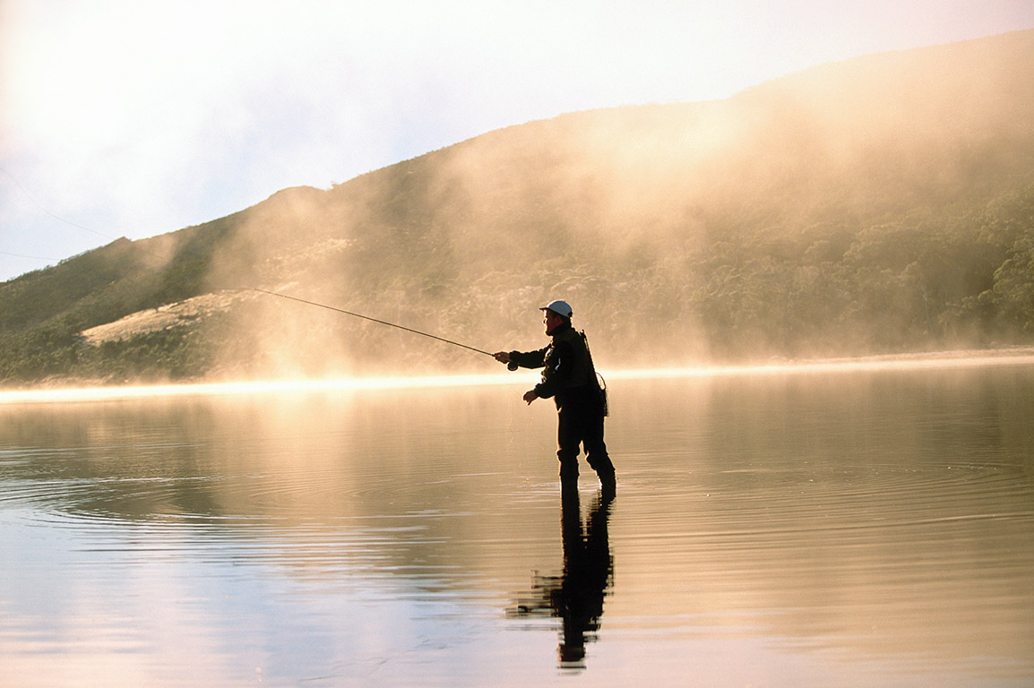 Fly-fishing at Cradle Mountain Tasmania for Tourism Tasmania, Australia