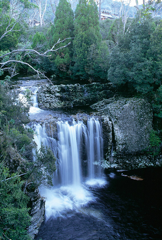 Pencil Pine Falls,  Cradle Mt Tasmania, for Tourism Tasmania, Australia