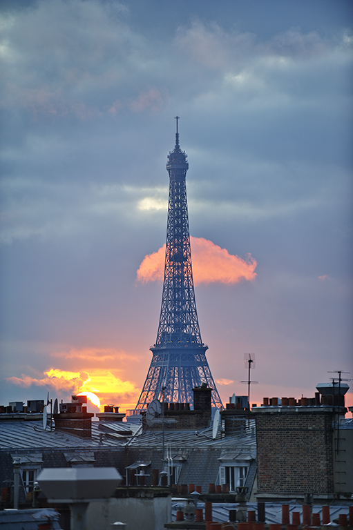 Evening Light, Eiffel Tower and Paris Rooftops
