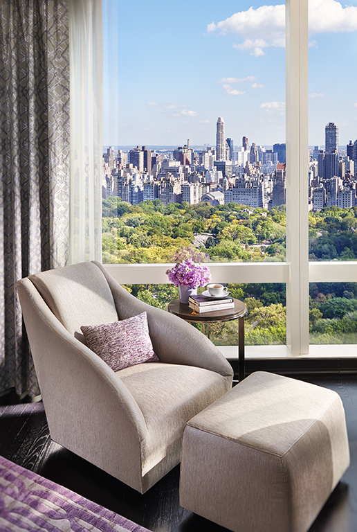 Suite with a view over Central Park in New York City