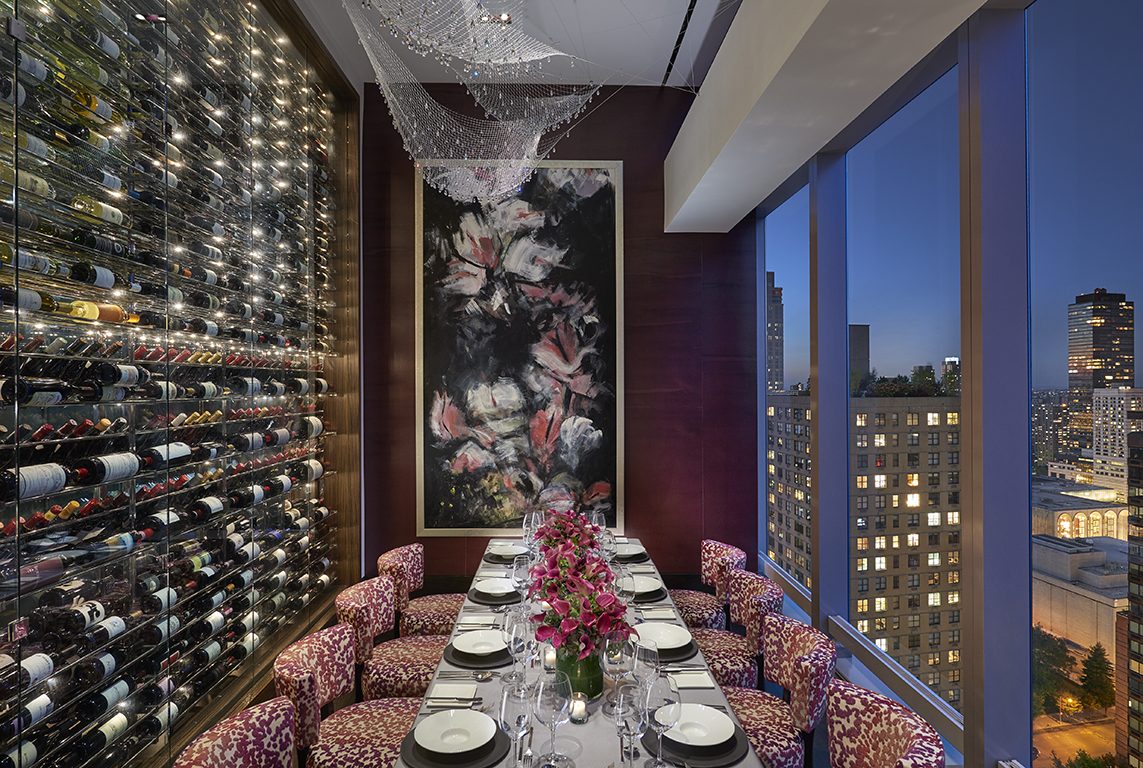 Private dining room in Asiate at Mandarin Oriental Hotel New York
