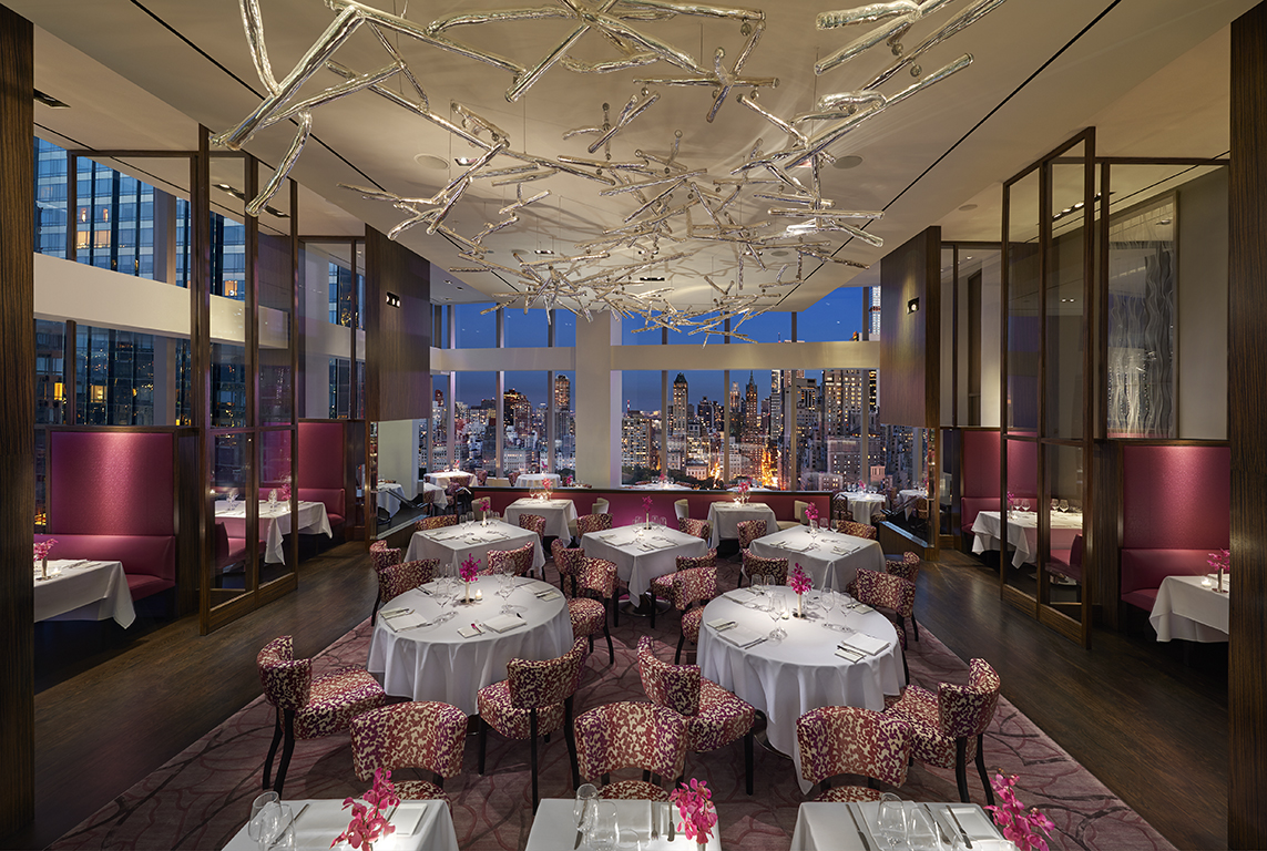Asiate restaurant at Mandarin Oriental Hotel New York City with views to Central Park