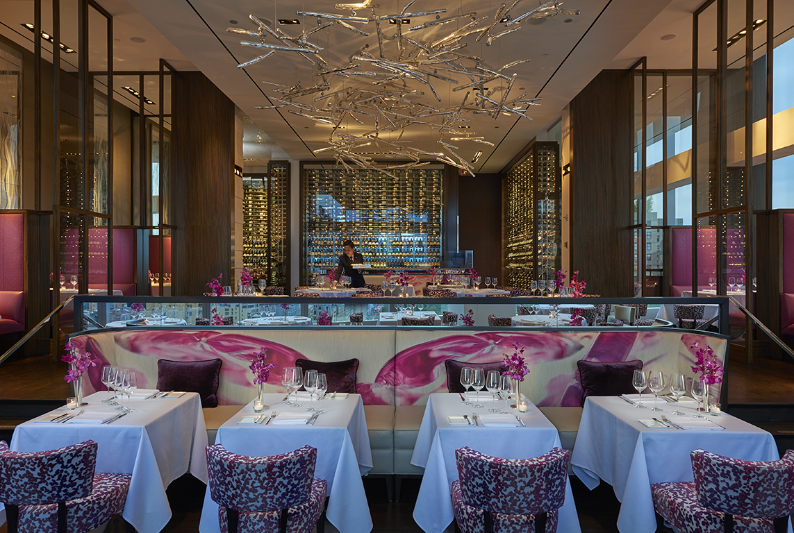 Aside restaurant at Mandarin Oriental Hotel New York City
