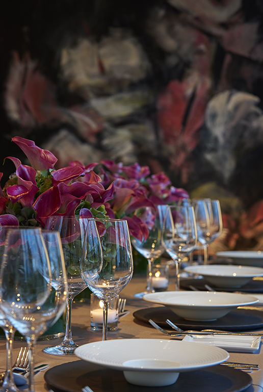 Detail in the Private dining room in Asiate at the Mandarin Oriental Hotel New York
