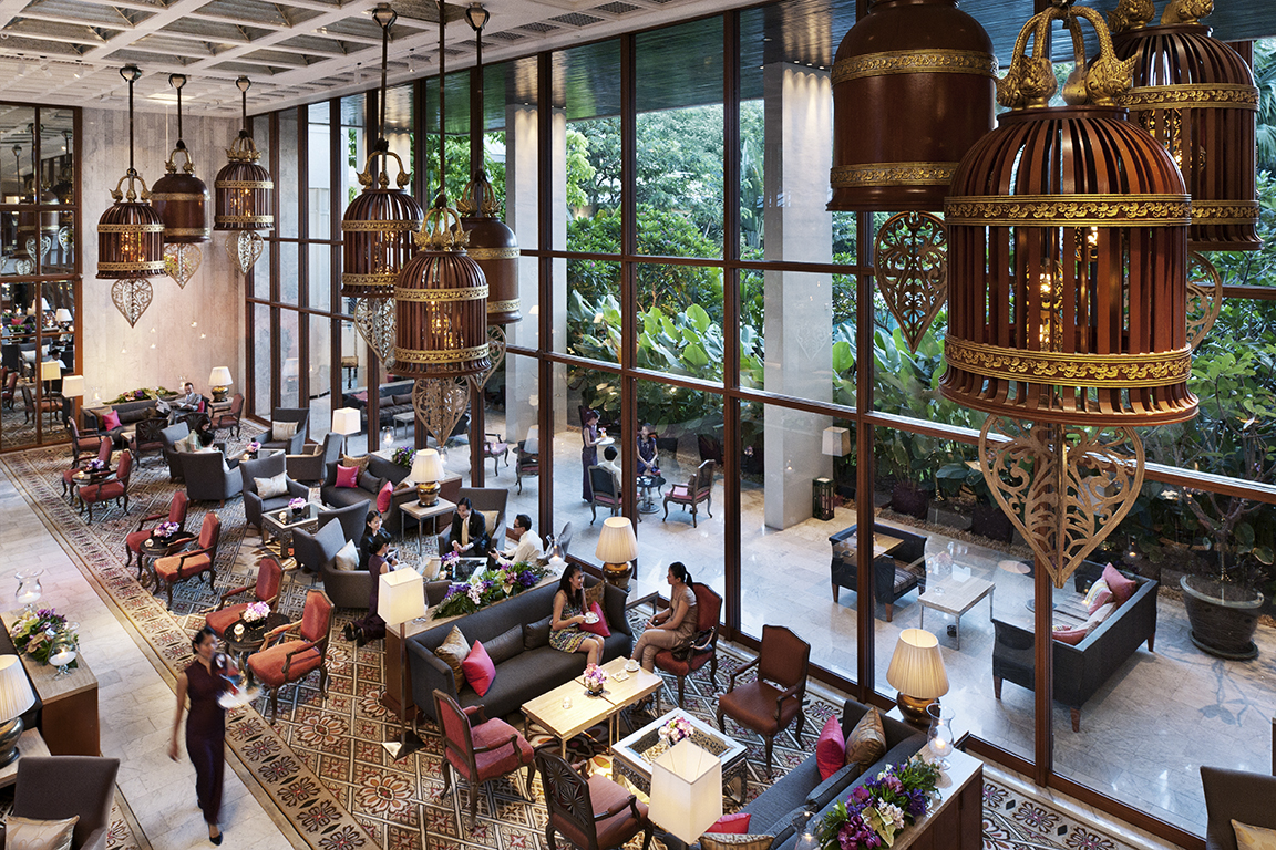 Lobby of the Mandarin Oriental Bangkok