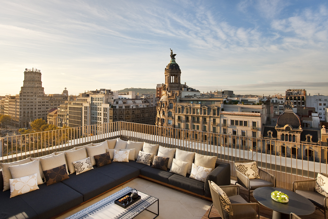 Terrace at the Mandarin Oriental Barcelona