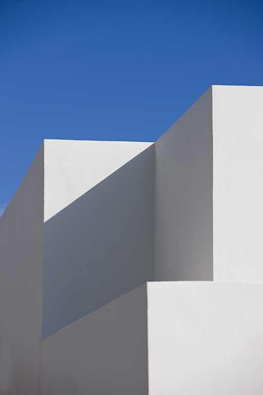 Architectural detail of a building in Cancun Mexico