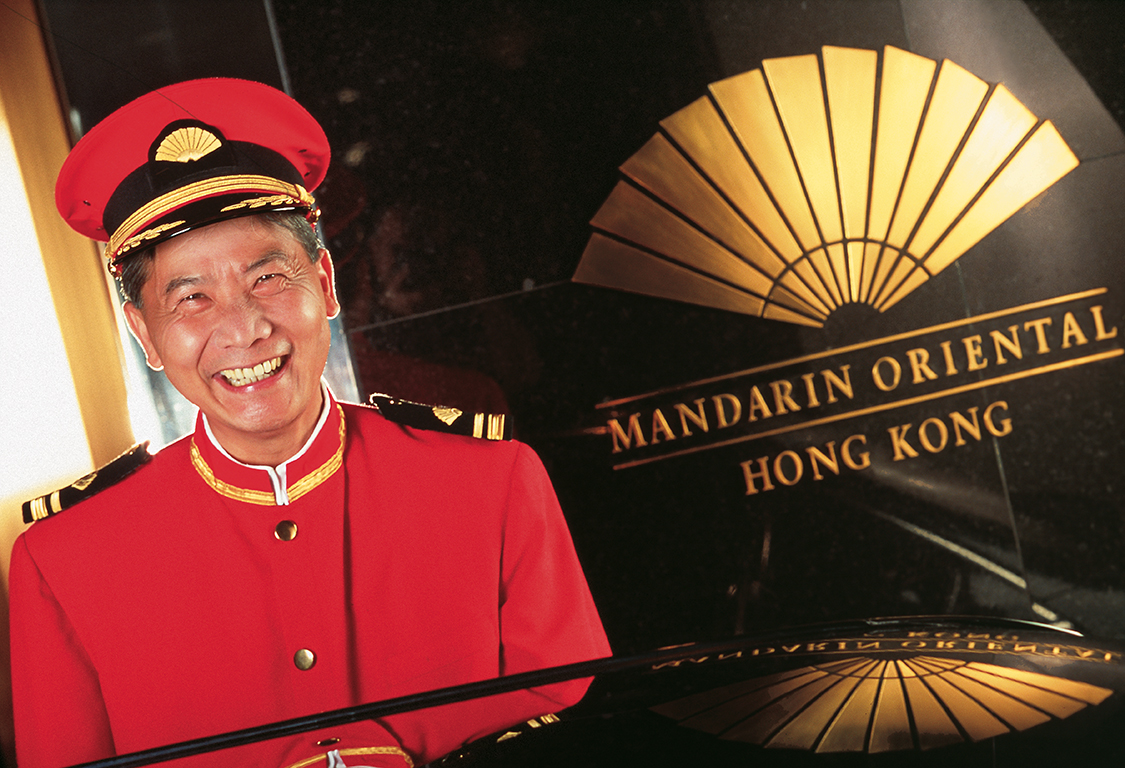 Doorman at Mandarin Oriental Hong Kong