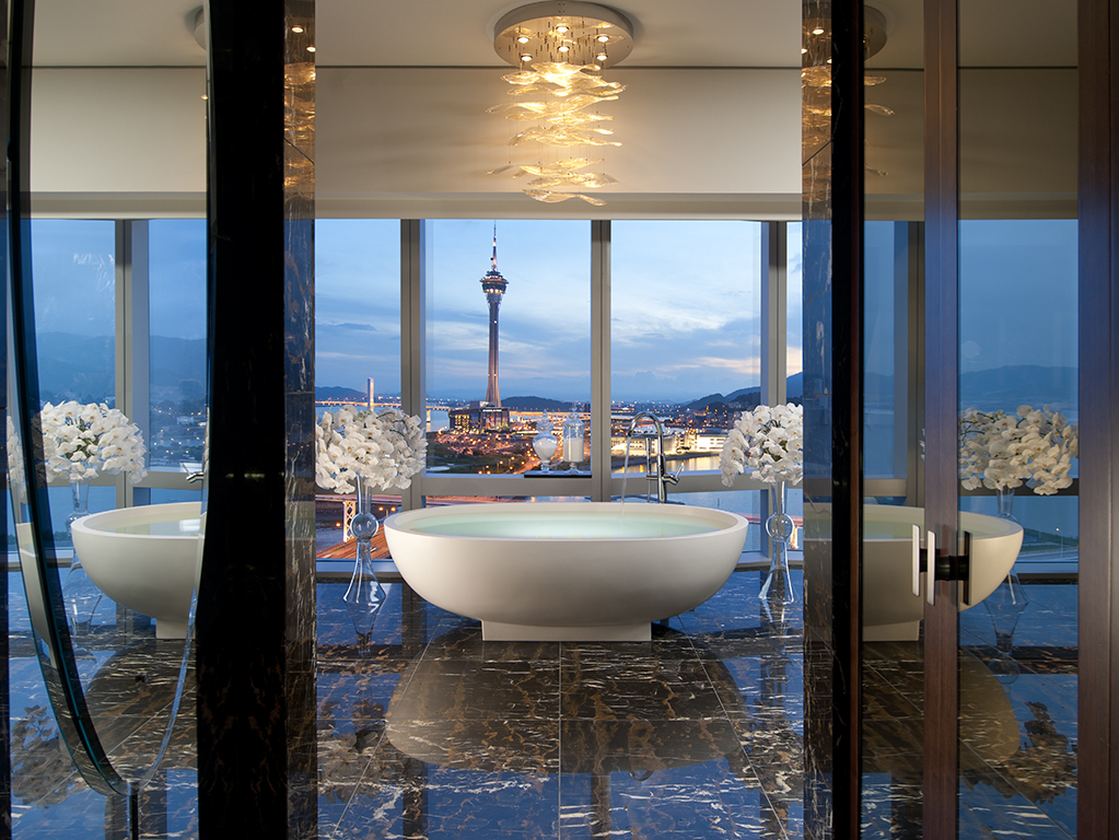 Presidential Bathroom at Mandarin Oriental Macau