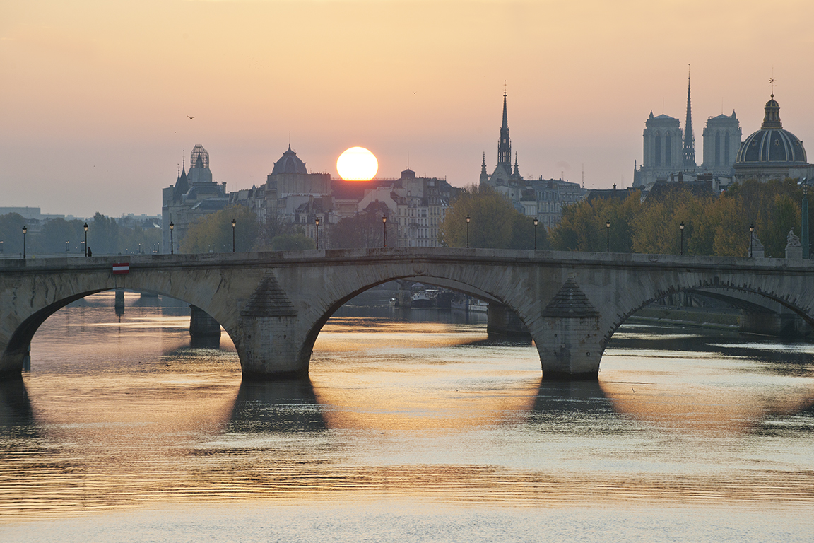 Sunrise on the River Seine, Paris