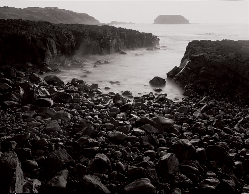 The Nobbies from Cowrie beach at Phillip Island, Victoria, Australia