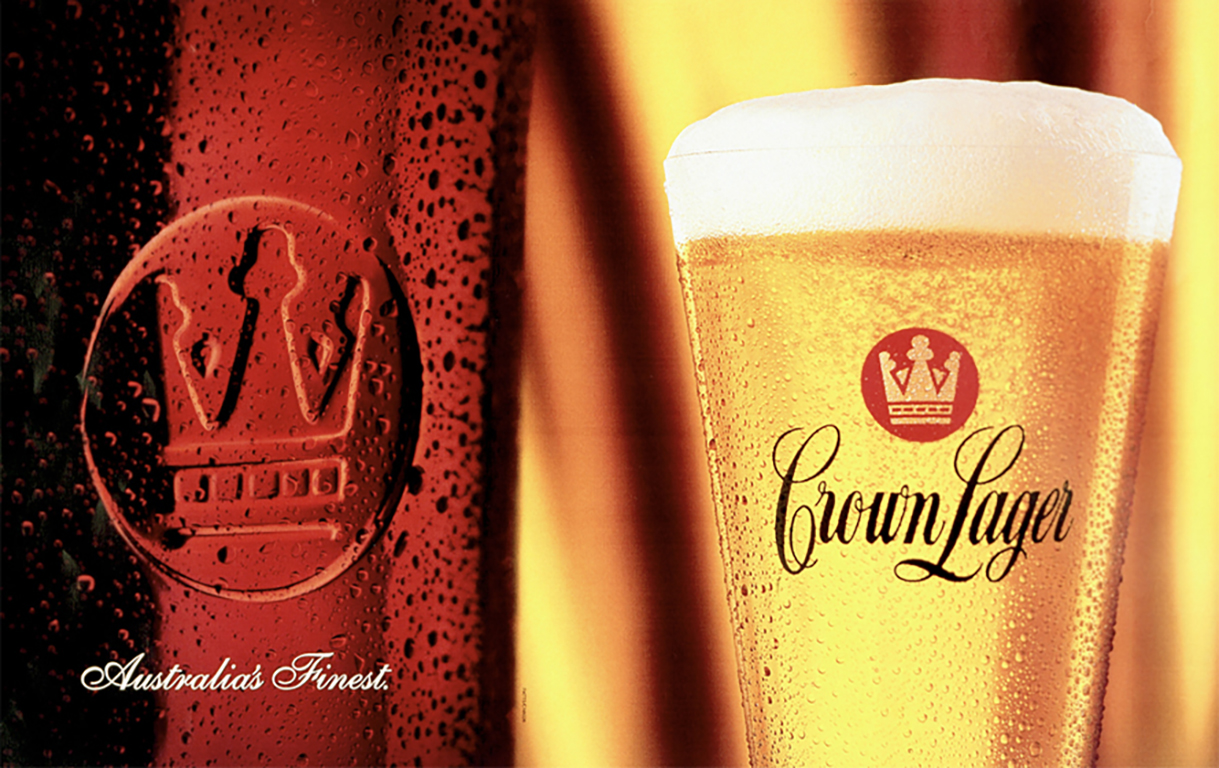 Crown Larger Series, Carlton United Breweries, Australia