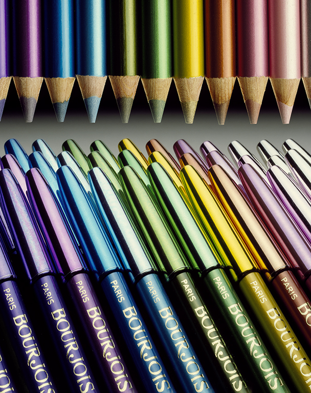 """Bourjois Pencils"" 1983 Type C Print 113 cm x 140 cm Original: EKTACHROME 64 5x4 Professional / EPR"