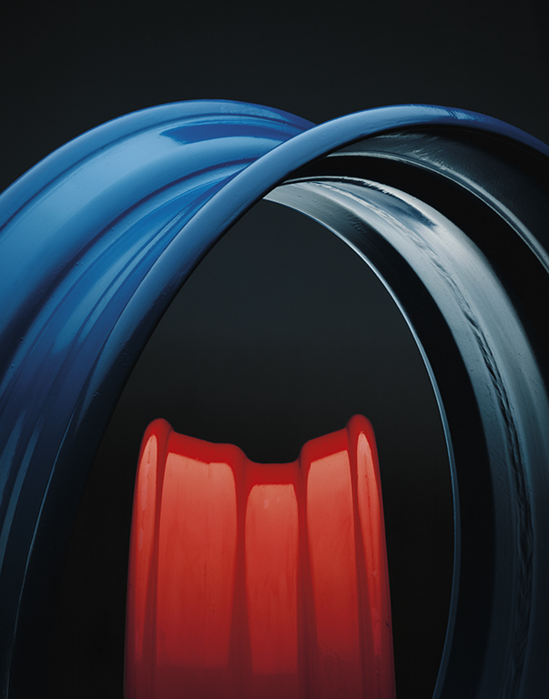 """Truck Wheel Rims"" 1985 Type C Print 113 cm x 140 cm Original:KODAK  EKTACHROME 64 10x8 Professional / EPRTransparency"