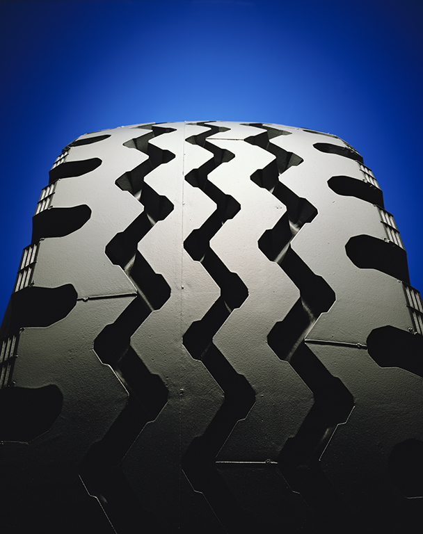 """Tyre Tread"" 1984 Type C Print 113 cm x 140 cm Original:KODAK  EKTACHROME 64 10x8 Professional / EPRTransparency"